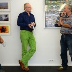 """Dieter Soldan an Wolf Nkole Helzle in front of in """"365 Selfportraits 2010-2011"""" by Wolf Nkole Helzle (gz)"""