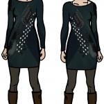 Thea und Dora: Passendes Outfit zur Ausstellung.